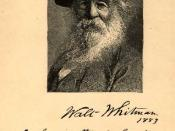Frontispiece of the 1883 edition of Leaves of Grass by Walt Whitman