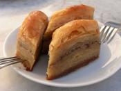 80-ply dough baklava (which is usually 40-ply), speciality of Beypazarı district of Ankara,Turkey