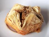 Baklava, a typical Middle Eastern cake served at Aladdin's Eatery
