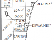 English: Administrative composition of Kewaunee County