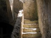 Stairwell adjacent to the church.