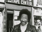 Robinson in front of his record store, circa 1965.