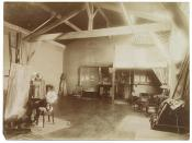 Henry Ossawa Tanner in his studio