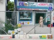 Caye Caulker convenience store. Albert's Mini Mart