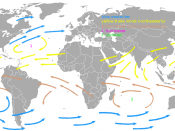 English: A map showing the prevaling winds on earth. The image was made based on an image in the book