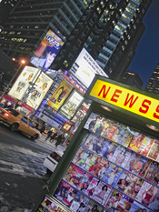 English: Newstands in New York