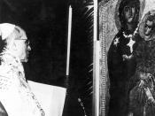 English: Coronation of the Salus Populi Romani by Pope Pius XII in 1954