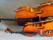 1/8 size and 4/4 (full) size cellos