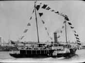 StateLibQld 1 270485 Festooned Lucinda cruising on the Brisbane River