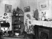 Corner in a Negro teachers' home, New Orleans, Louisiana, 1899