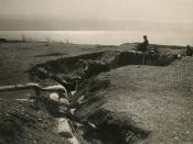 Turkish trenches on the shores of the Dead Sea.