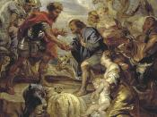 The Reconciliation of Jacob and Esau, as in Genesis 33, oil on panel, at the National Galleries of Scotland