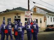 New Orleans, Mardi Gras Day, 1999. Group of street costumers calling themselves