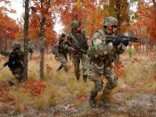 U.S. Army soldiers of the 82nd Airborne Division wearing ACH helmets in the M81 Woodland pattern