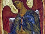 icon, Gabriel. Архангел Гавриил Из деисусного чина. Икона входит в состав Высоцкого полуфигурного деисусного чина.