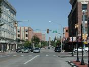 Downtown Cheyenne, Wyoming, united States.