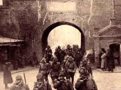 Japanese troops enter Shenyang after the Mukden Incident