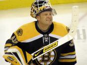 Goalie Tim Thomas, NHL Hockey player for the Boston Bruins