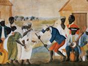 English: The Old Plantation, ca. 1790-1800. Watercolor by unidentified artist. Original painting in Abby Aldrich Rockefeller Folk Art Museum, Williamsburg, Virginia.