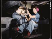Women at work on bomber, Douglas Aircraft Company, Long Beach, Calif.  (LOC)