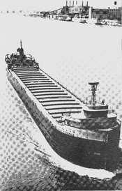 English: SS Edmund Fitzgerald upbound and in ballast
