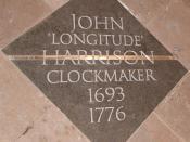 John Harrison's Memorial in Westminster Abbey, London