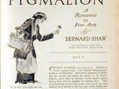 First American serialized printing of Bernard Shaw's Pygmalion.