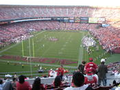 Candlestick Park during a game between the San Francisco 49ers and St. Louis Rams. The 49ers won 35-16.