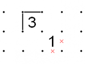 English: Slitherlink; Diagonals of a 3 and 1