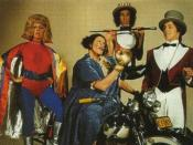 Flange Desire, Aunty Jack, Thin Arthur, and Narrator Neville in 1972