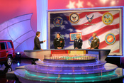 English: A shot of the contestant/wheel area of the Wheel of Fortune set, circa early 2006. Taken from the website of America Supports You, a Department of Defense organization.