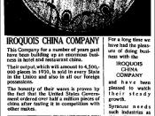 English: Iroquois China Company business customer of the Syracuse Trust Company