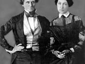 English: Jefferson Davis, at the age of 37, with his bride, Varina Howell. From a daguerreotype in the possession of their granddaughter, Mrs. George B. Webb, Colorado Springs, Colorado.