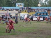 English: Wrestling competition in Tos Bulak, 2005