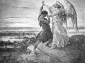 Jacob Wrestling with the Angel illustration by Gustave Doré (1855)