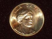 English: Obverse of 1981 Willa Cather half ounce medallion