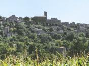 Français : Photo de Cordes-sur-Ciel (France, Tarn) prise de la vallée.