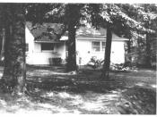 English: Ernest Hemmingway Cottage, Walloon Lake MI. View of annex, looking west