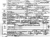 English: Nick Adams' death certificate.