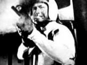 Nick Adams wears an off-the-shelf motorcycle helmet in Mission Mars (1968) shortly before his death.