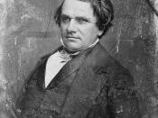 Daguerreotype of Stephen A. Douglas, U.S. Senator from Illinois