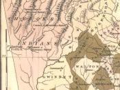 1822 map of Cherokee lands in Georgia