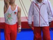 English: Portuguese gymnast and coach before the qualifications of the rings, at the 17th Internationaux de France (2010).