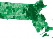 Massachusetts locations by per capita income, according to data provided by the 2000 United States Census for each community, darker green ($32,117+), dark green ($26,400-$32,117), pure green ($23,711-$26,400), light green ($21,072-$23,711) and pastel gre