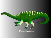 Sketch of the prosauropod Plateosaurus from Europe of the Late Triassic period