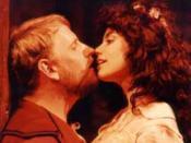 Eddie Frierson as Horatio in Hamlet opposite Deborah Gates.