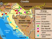 Economic Activity Map of Croatia from the Balkans Regional Atlas