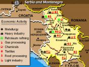 Economic Activity Map of Serbia Montenegro from the Balkans Regional Atlas