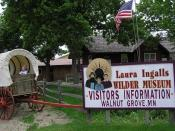 Entrance to the Laura Ingalls Wilder Museum in Walnut Grove, Minnesota.