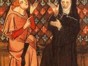 Abaelardus and Heloïse in a manuscript of the Roman de la Rose (14th century)
